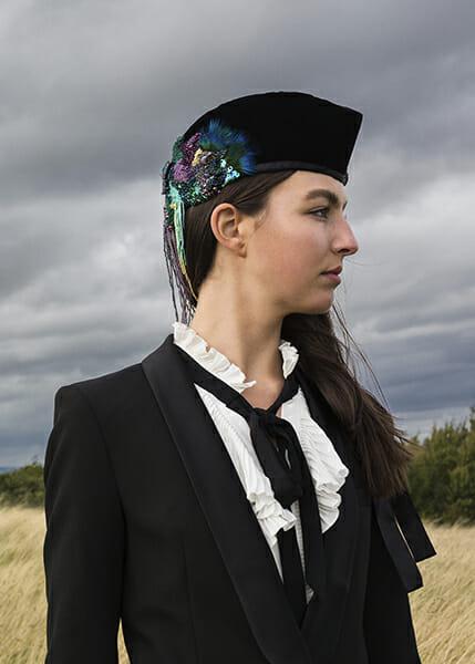 6 - The work of embroidery artist Emma Wilkinson. Photography: Nina Shahroozi; Model: Brooke Mills