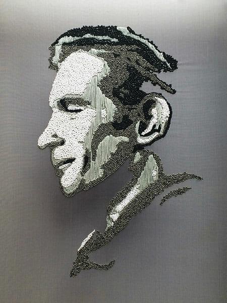 Portrait embroidery 1 by Silvia Perramon Rubio