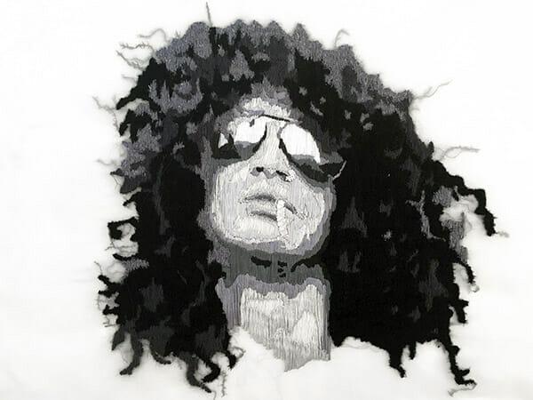 Portrait embroidery 2 by Silvia Perramon Rubio
