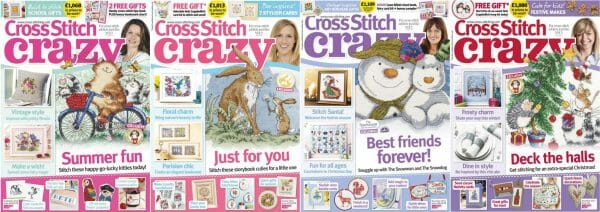 Cross Stitch Crazy covers for September to December 2015