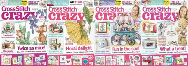 Cross Stitch Crazy covers for May to August 2016