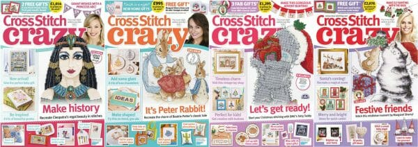 Cross Stitch Crazy covers for September to December 2016
