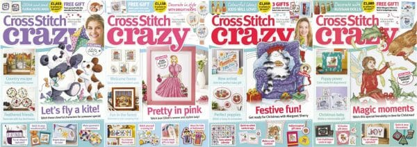 Cross Stitch Crazy covers for September to December 2017