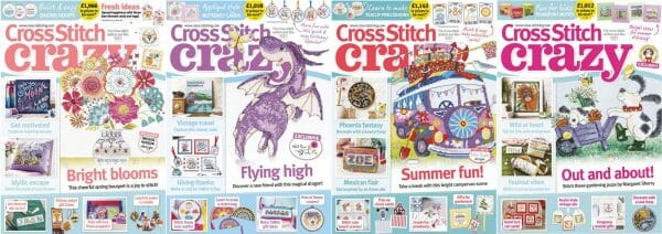 Cross Stitch Crazy covers for May to August 2018