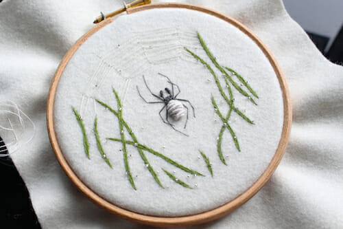 Adam Pritchett - Wolf Spider Embroidery