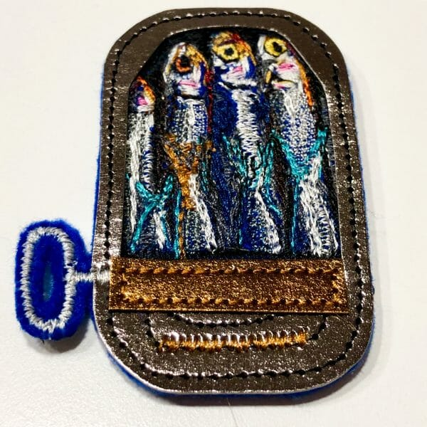 Alicja Kozłowska - Can of Sardines - Machine Embroidered Patch