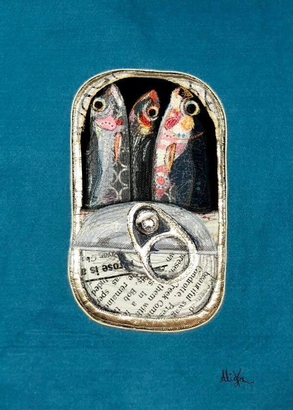 Alicja Kozłowska - Sardines Art Quilt