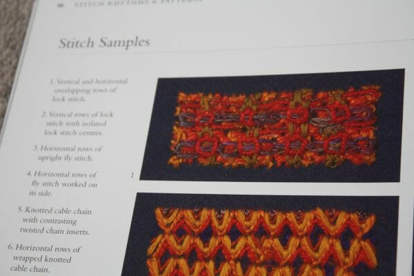 The artists have illustrated their stitch samples beautifully, with photographs such as this one.