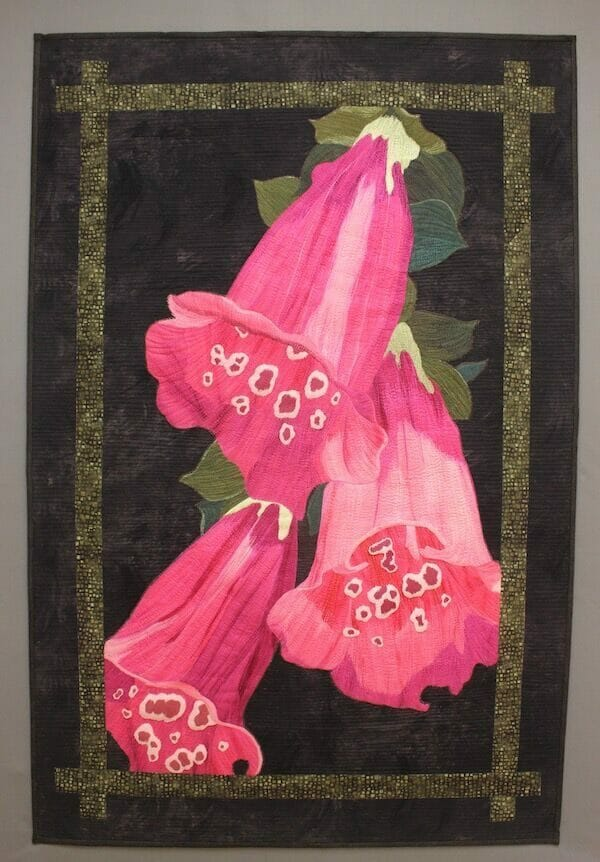 Becky Grover Foxglove, a quilt inspired by a local controversy