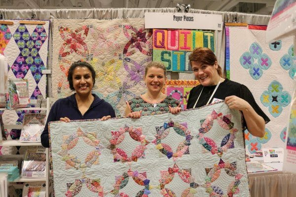 Look at that fabric! All art and quilt...