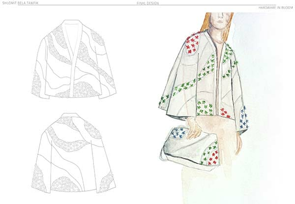 Coat design, Hand & Lock Prize for Embroidery, second-place winner, Textile Open category, Shlomit Tawfik