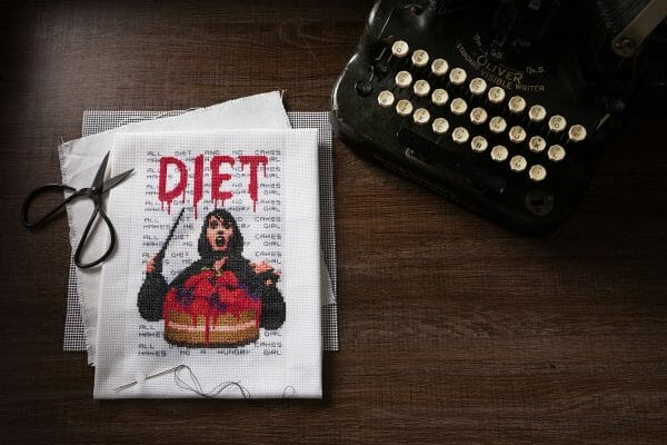 Marina Bolmini's Diet design for XStitch Magazine Issue 8