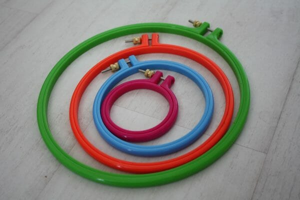 What size and colour will you choose? Milward hoops in different sizes.