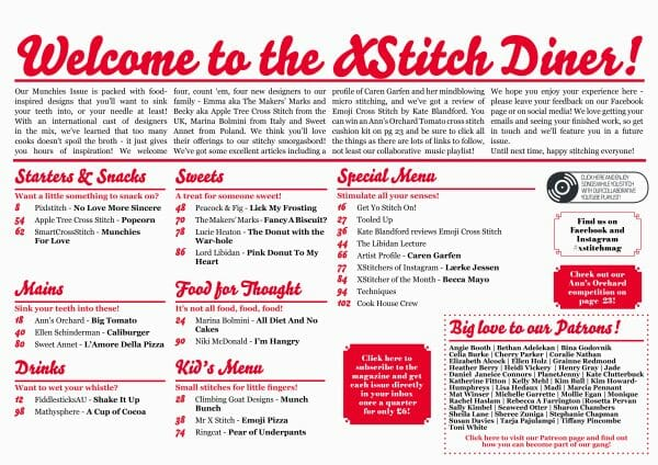 The Menu from XStitch Magazine Issue 8