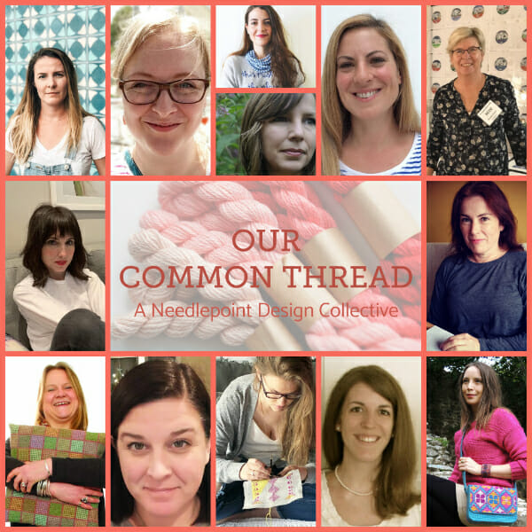 The smiling faces of Our Common Thread, A Needlepoint Collective