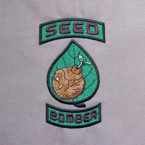 Seed bomber patch set embroidered
