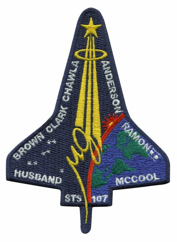 NASA Space Shuttle flight 113 (STS-107) Mission Patch