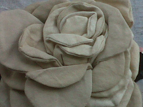Natural strength is found within the excess fabric cut away after machining petals.