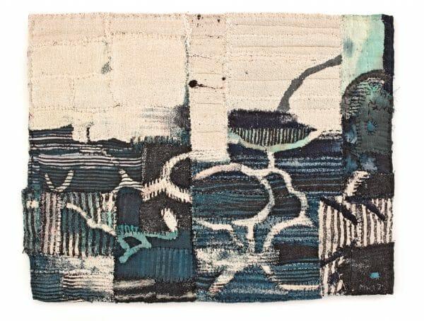 Mathew Harris - 'Cloud Tree Fragment' 36 x 46cm. Poetic Cloth by Hannah Lamb