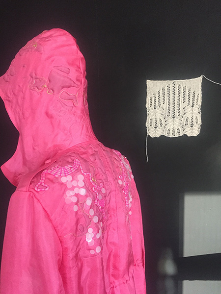 Pink Parka, back, by Fabienne Gassmann, third-place winner, Hand & Lock Prize for Embroidery, fashion-open category