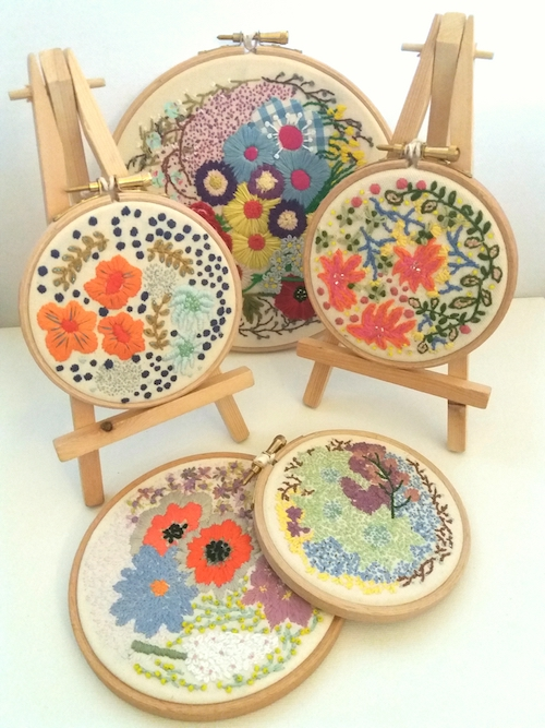 Yellow Tulip Crafts - Floral Embroideries