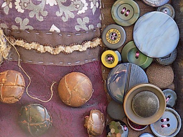 Establishing a timeline using vintage buttons
