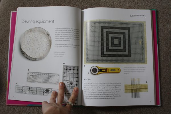 Sewing equipment is listed to use the ideas in this book