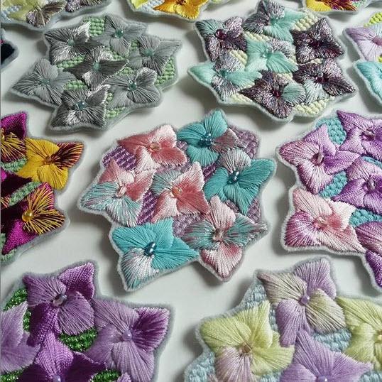Flower medallions by Jessie Dickinson