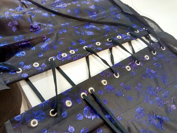 Corset lacing, by Suzanne Treacy