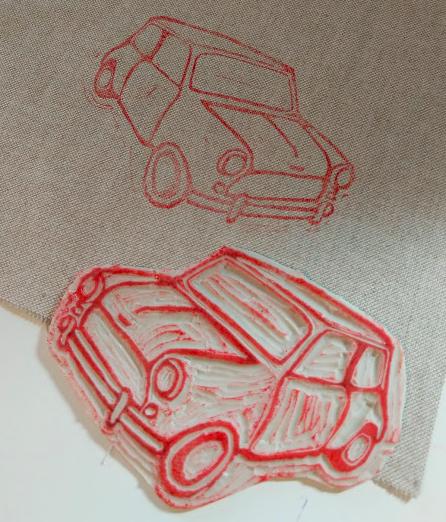 Craft rocks printed lino Mini