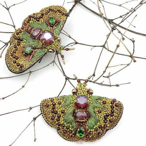 Sova Brooch - Luna Moth Brooch
