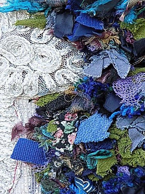 Christine Cunningham - A dense carpet of fabric scraps