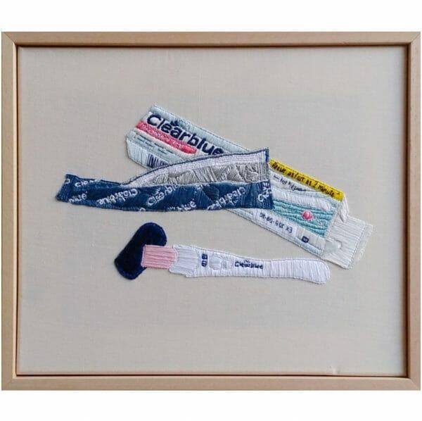 Regi Cherini - Ticking Clock (2018) - Hand Embroidery