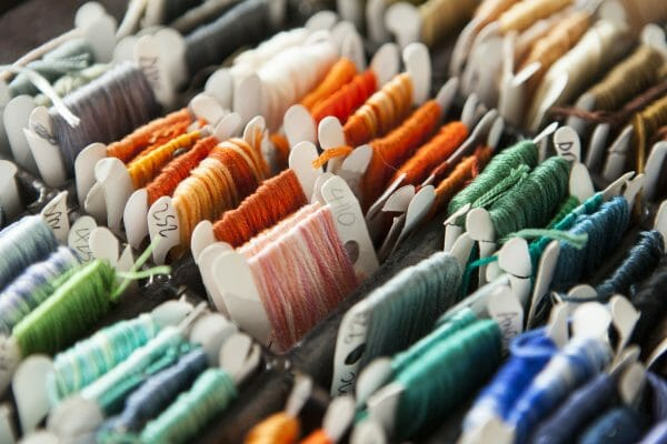 Lovely Threads Woven On Bobbins - photo credit Stacy Grant