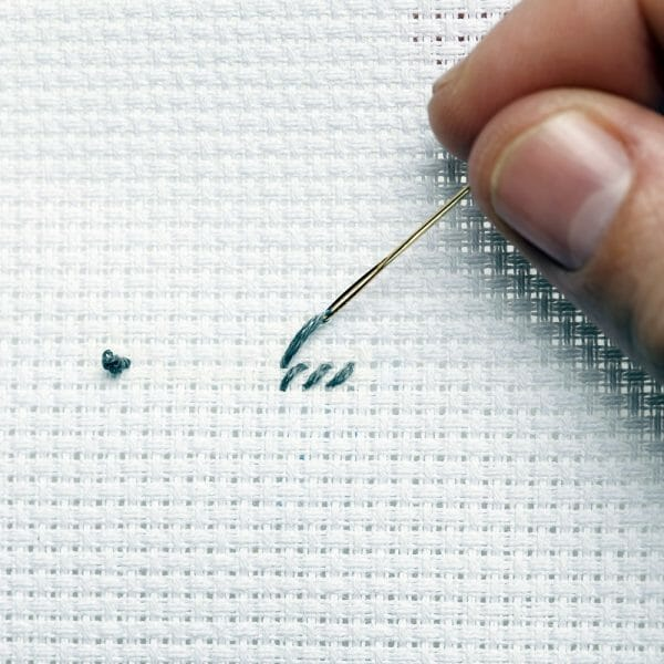 And your stitches will hold that thread in place til you are done!