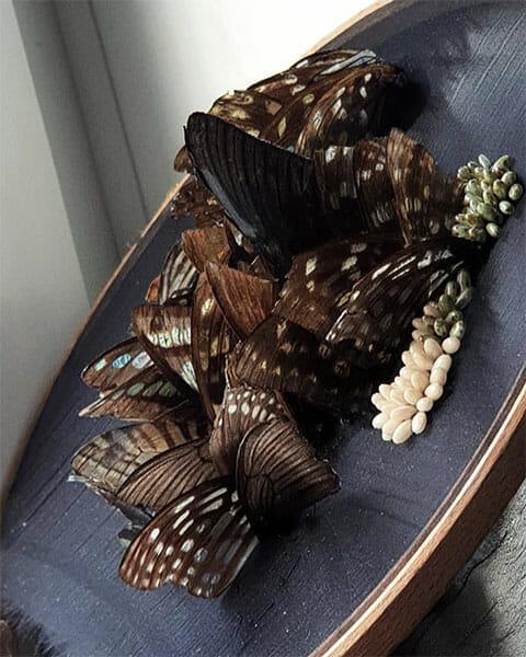 Wings detail 3, Inge Tiemens, Hand & Lock Prize for Embroidery winner