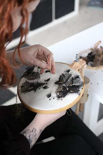 Work in progress, Inge Tiemens, Hand & Lock Prize for Embroidery winner