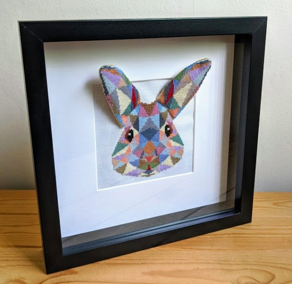 Craft Rocks 3D bunny framed