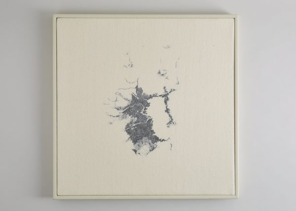 Richard McVetis - Light Abstract Tokyo Bay 2018 50 x 50cm Wool cotton_hand embroidery