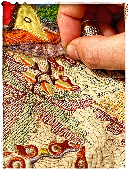 Embroidery detail, Windermere Am I Still Beautiful?,