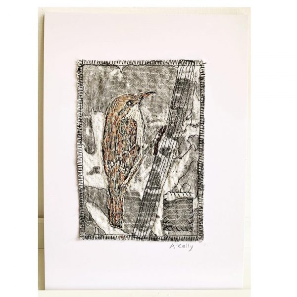 One of Anne Kelly's finished bird prints