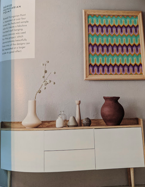 Home style and the method in a frame.  Boxed Hungarian Point  Bargello Stitch: A Pattern Directory for Dramatic Needlepoint by Laura and Lynsey Angell