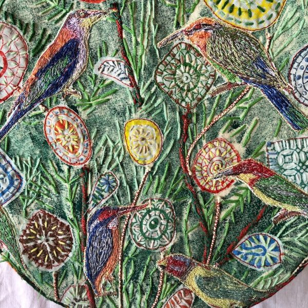 It is all in the detail - a snapshot view of one of Kelly's beautiful nature inspired pieces - we wonder what her exhibition will hold