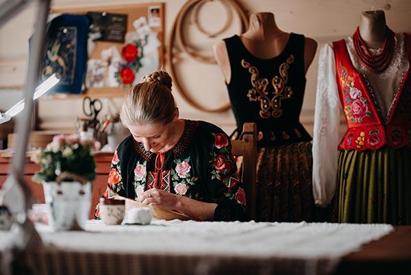 Artist at work, Joanna Galica-Dorula