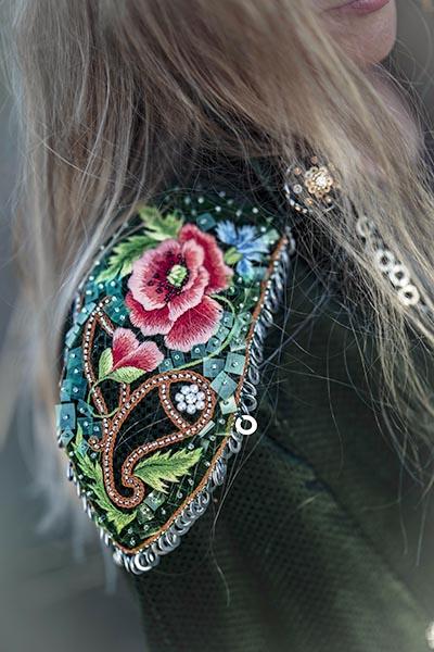 Epaulet detail, Joanna Galica-Dorula