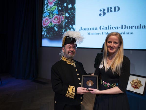 Joanna Galica-Dorula, 3rd place winner, Hand & Lock Prize for Embroidery, Open Fashion category