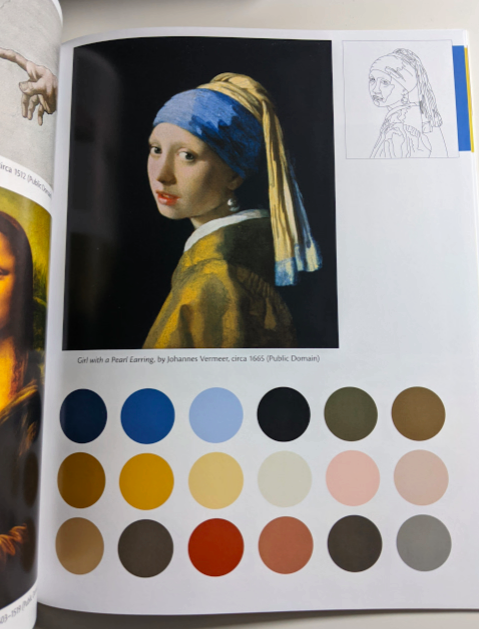 Examples of the paintings found within this book  Stitch a Masterpiece by C&T Publishing