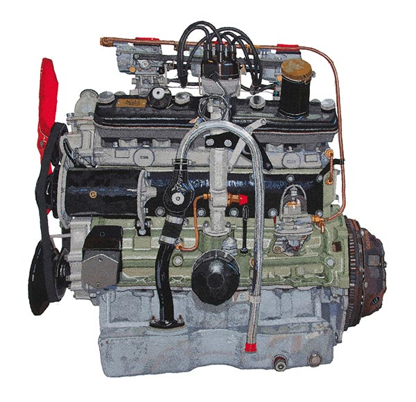 Bristol two-litre engine, by Julie Heaton