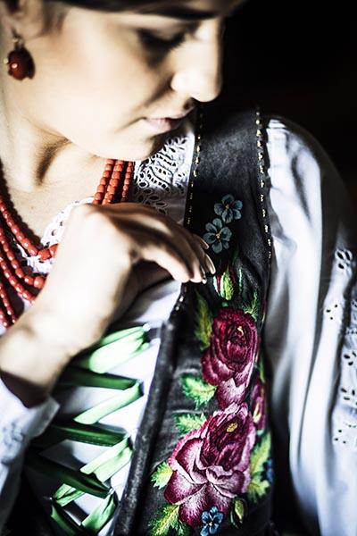 Embroidered vest by Joanna Galica-Dorula