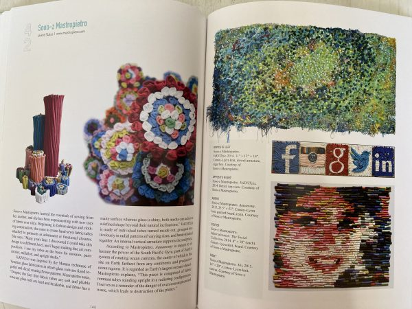 New and exciting work - all found within this book.  Facebook and social media 3D work  Dimensional Cloth:  Sculpture by Contemporary Textile Artists by Andra F.  Stanton